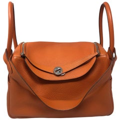 Hermes Lindy 34 Orange Bag