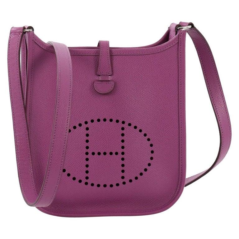 aca26c4512ad Hermes Long Strap Evelyne Crossbody Bag Epsom TPM For Sale at 1stdibs