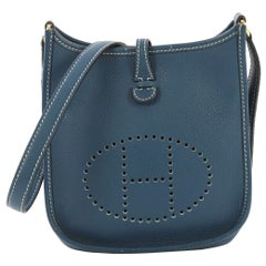 Hermes Long Strap Evelyne Crossbody Bag Togo TPM