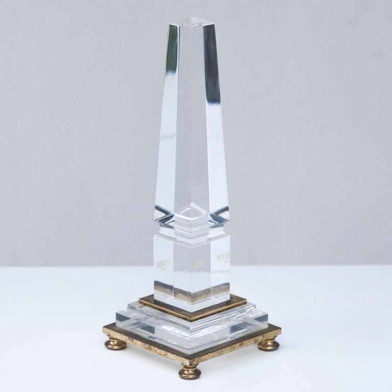 Hermes Lucite Obelisk Desk Accessory, 1970 In Good Condition For Sale In Munich, DE