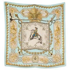 Hermes Ludovicus Magnus by F.de La Perriere Silk Scarf