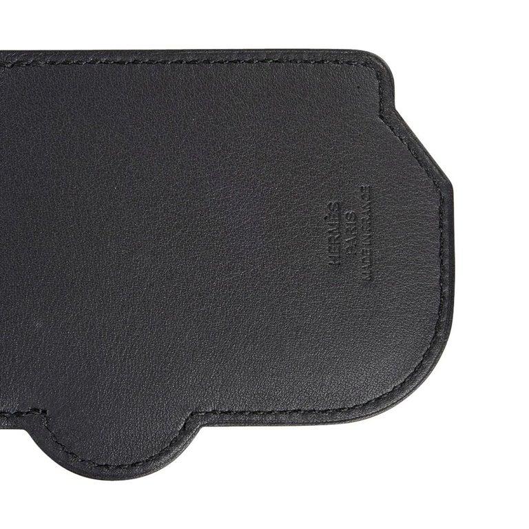 Hermes Luggage Tag Room 24 Bleu Indigo Black Green New w/ Box For Sale 6