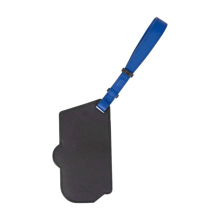 Hermes Luggage Tag Room 24 Bleu Indigo Black Green New w/ Box For Sale 5