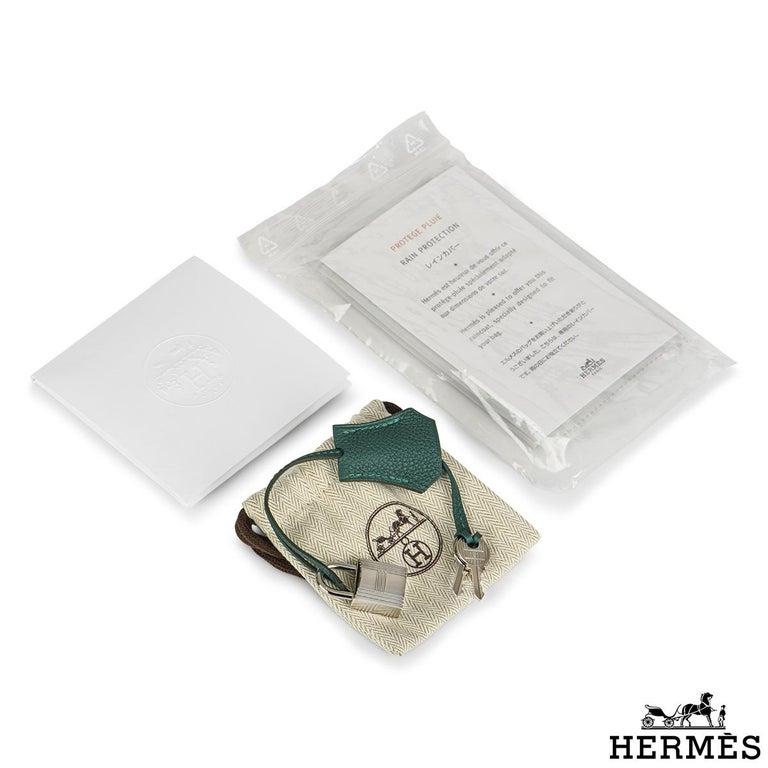 Hermès Malachite Togo Birkin 25cm PHW For Sale 3
