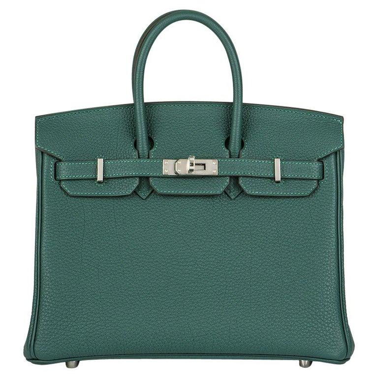 Hermès Malachite Togo Birkin 25cm PHW For Sale