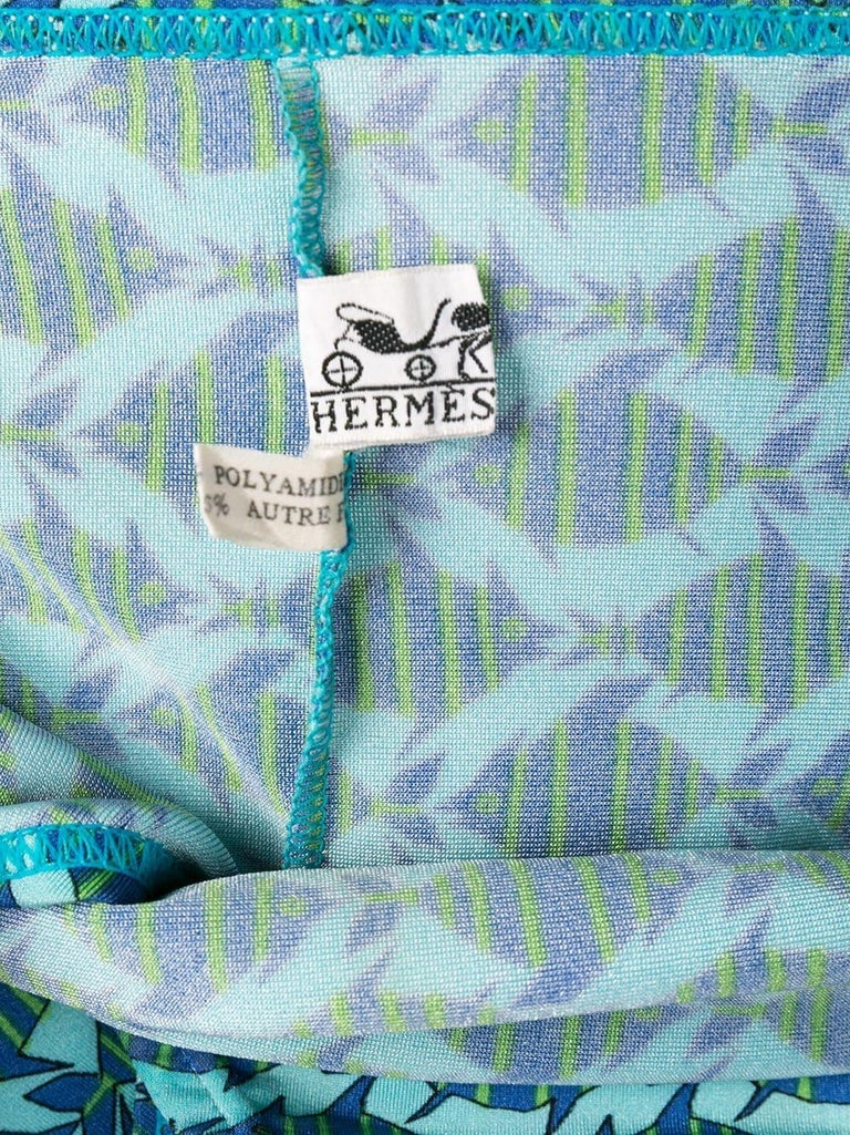 Hermès Man Fish Print Swimwear  In Excellent Condition For Sale In Paris, FR