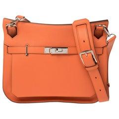 Hermes Mango Swift Leather Palladium Hardware Jypsiere 28 Bag