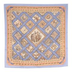 Hermes Mare Nostrum by Annie Faivre Silk Scarf One size