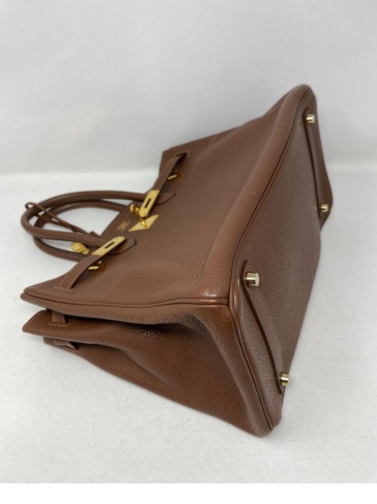 Hermes Maroon D'Inde Birkin 35 Bag For Sale 8