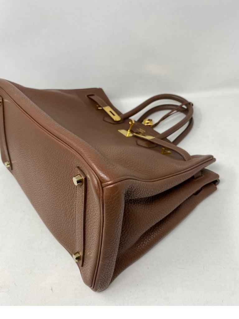 Hermes Maroon D'Inde Birkin 35 Bag For Sale 9