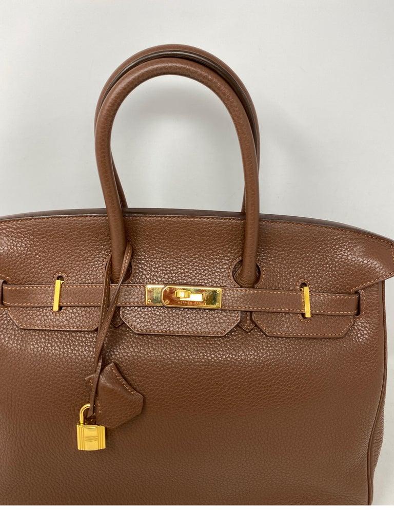 Hermes Maroon D'Inde Birkin 35 Bag For Sale 10