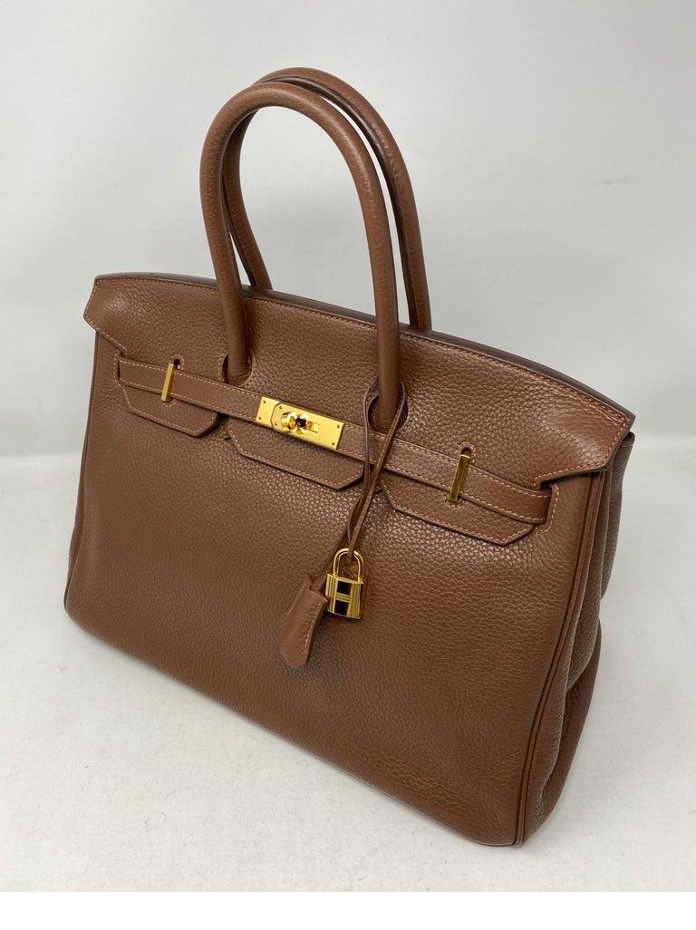 Brown Hermes Maroon D'Inde Birkin 35 Bag For Sale