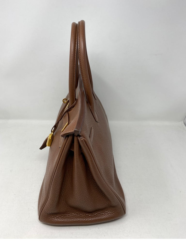 Hermes Maroon D'Inde Birkin 35 Bag In Good Condition For Sale In Athens, GA