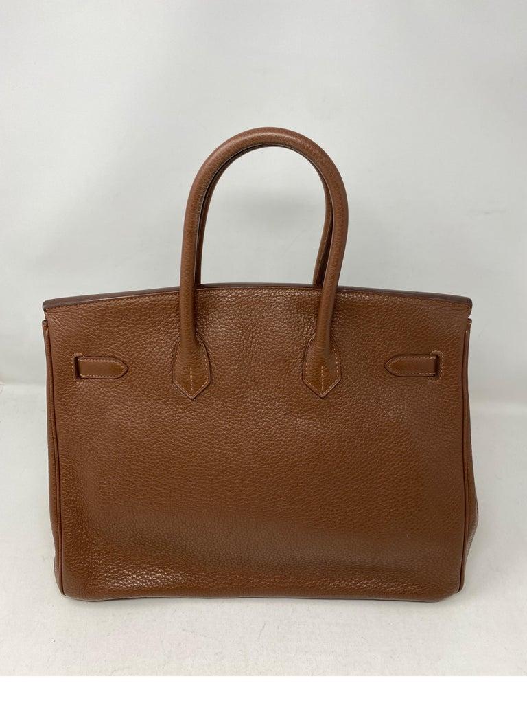 Women's or Men's Hermes Maroon D'Inde Birkin 35 Bag For Sale