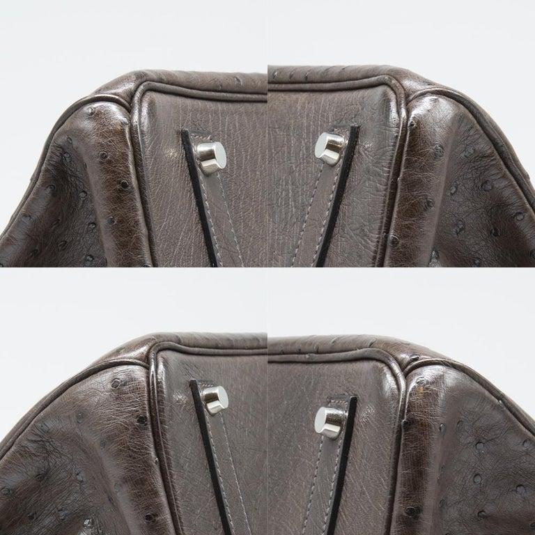 Hermès Marron Fonce Ostrich 35cm Birkin Bag 5