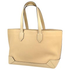 HERMES Maxi box Cabas36 unisex tote bag beige