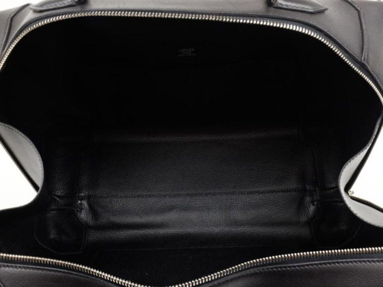 11fa40397089 Hermès Maxibox Evergrain 37 218575 Black Leather Hobo Bag For Sale ...
