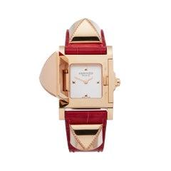 Hermes Medor 18k Rose Gold W041283WW00 Wristwatch