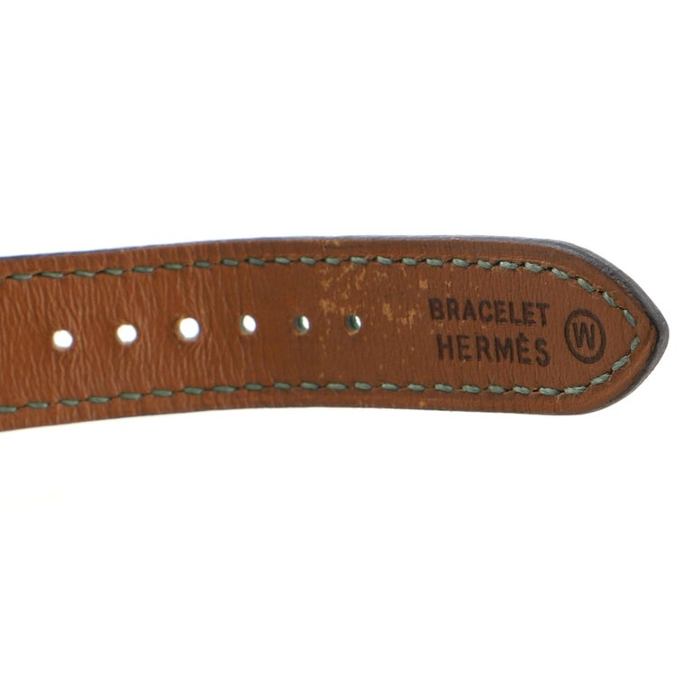 Hermes Medor Quartz Watch Plated Metal and Leather 23 1
