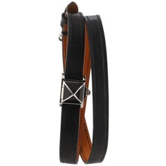 Hermes Medor Rock Quartz Watch Lacquered Steel and Leather 16