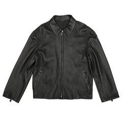 Hermes Men's Jacket in Black Clémence Calf Leather