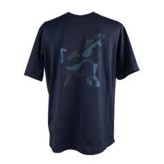 Hermes Men's T-Shirt Brazilian Horse Marine M New