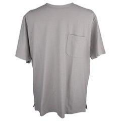 Hermes Men's T-Shirt with Pocket Gray Short Sleeve M New w/ Box