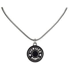 Hermes Metal Clou de Selle Pendant Necklace