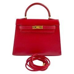 1stdibs Exclusives Hermès Micro Kelly 15cm Rouge Courchevel Gold Hardware
