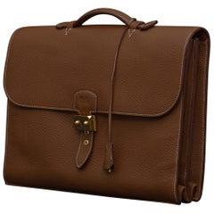 Hermès Mid Tan Leather Sac à Dépêches Briefcase