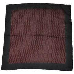 Hermes Midnight Navy with Geometric Center Classic Silk Men's Handkerchief
