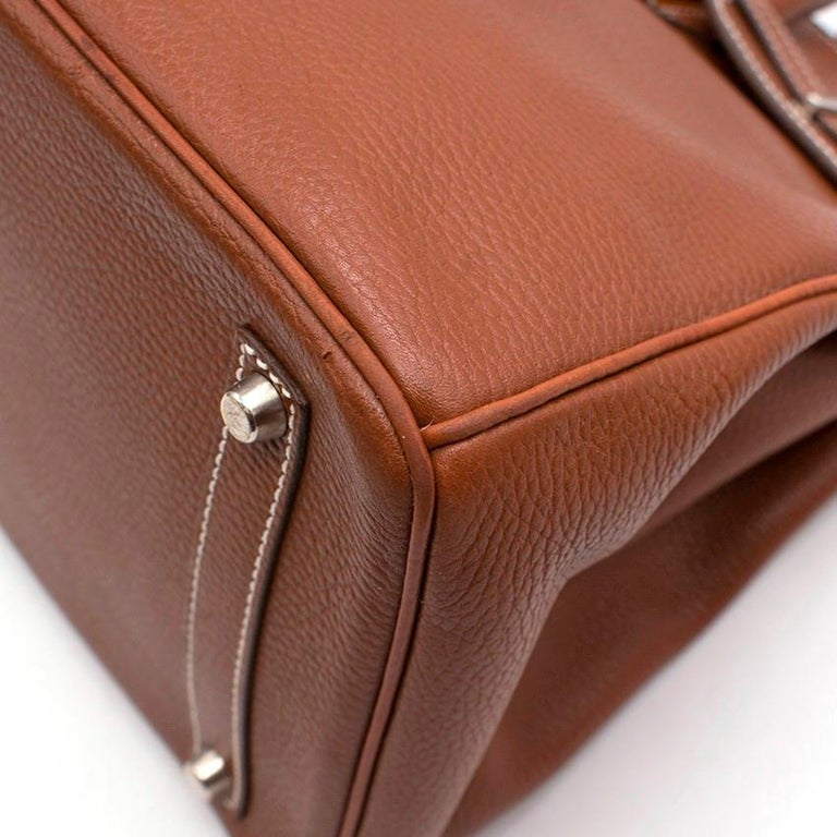 Hermes Miel Clemence Leather Birkin Bag 35cm In Good Condition For Sale In London, GB