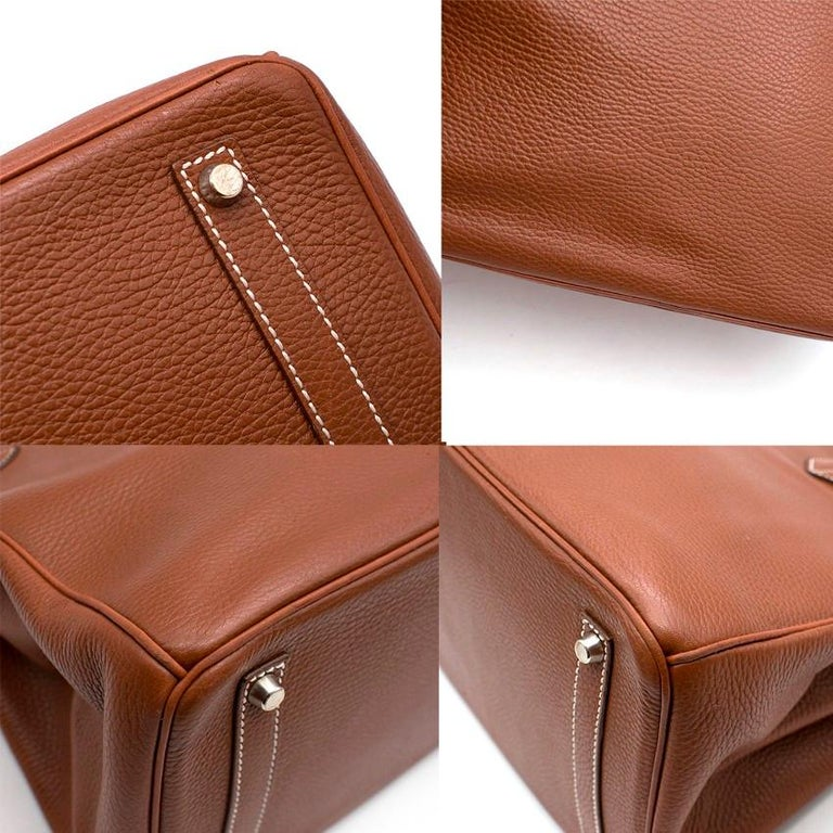 Hermes Miel Clemence Leather Birkin Bag 35cm For Sale 1
