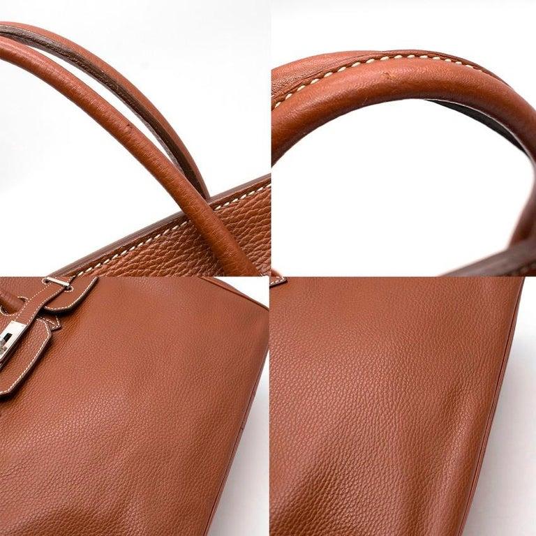 Hermes Miel Clemence Leather Birkin Bag 35cm For Sale 2