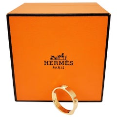 Hermes 'Mini Clous' Rose Gold Ring