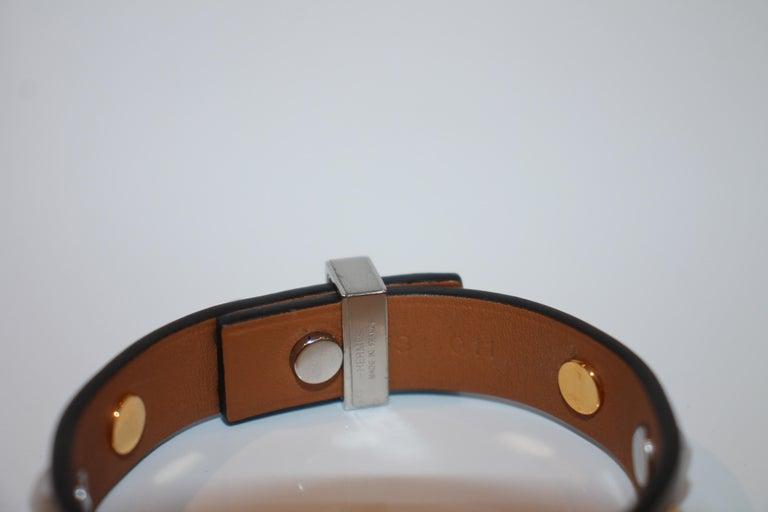 Hermes Mini Dog Clous Carres Bracelet For Sale 1