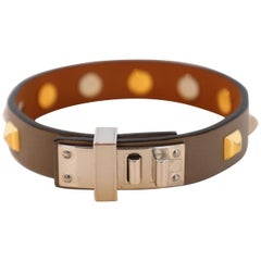 Hermes Mini Dog Clous Carres Bracelet