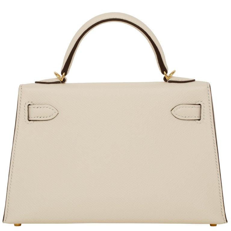 Hermès Mini Kelly II Nata Epsom Leather Gold Hardware For Sale 6