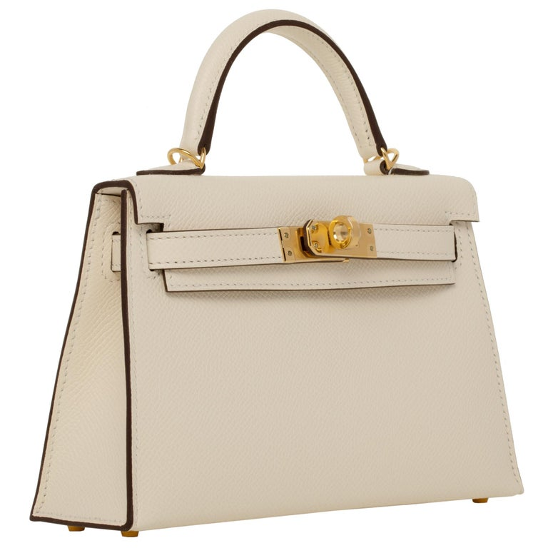 Hermès Mini Kelly II Nata Epsom Leather Gold Hardware In New Condition For Sale In Sydney, New South Wales