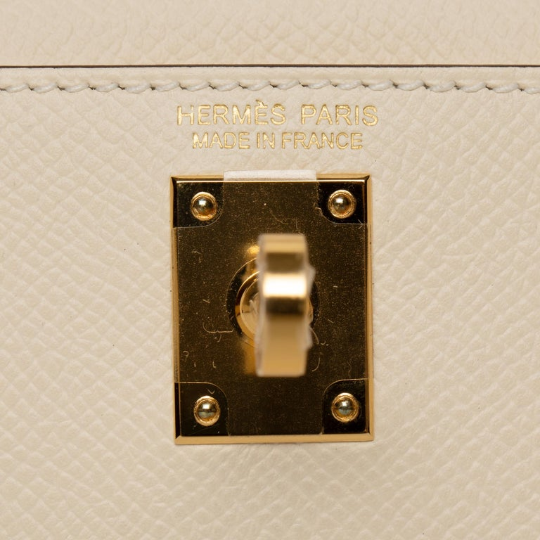 Hermès Mini Kelly II Nata Epsom Leather Gold Hardware For Sale 1