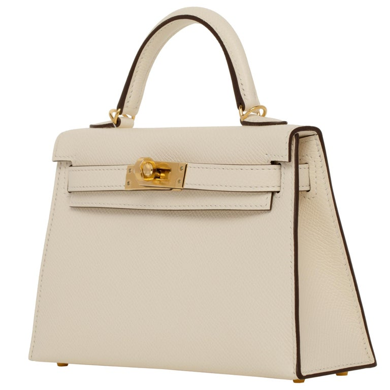 Hermès Mini Kelly II Nata Epsom Leather Gold Hardware For Sale 2