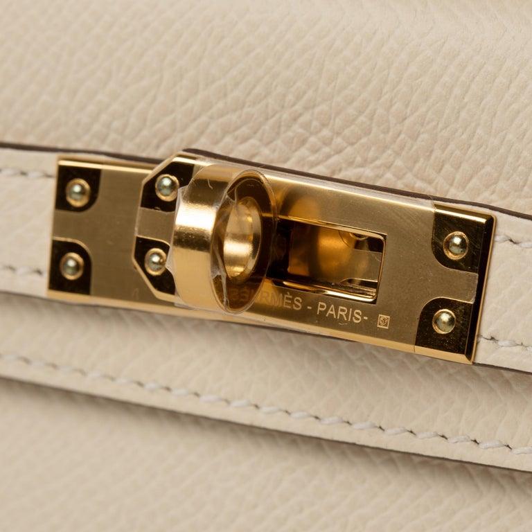 Hermès Mini Kelly II Nata Epsom Leather Gold Hardware For Sale 3