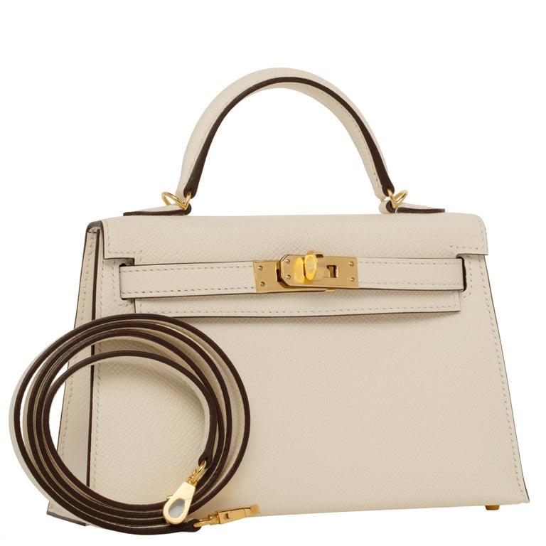 Hermès Mini Kelly II Nata Epsom Leather Gold Hardware For Sale 4