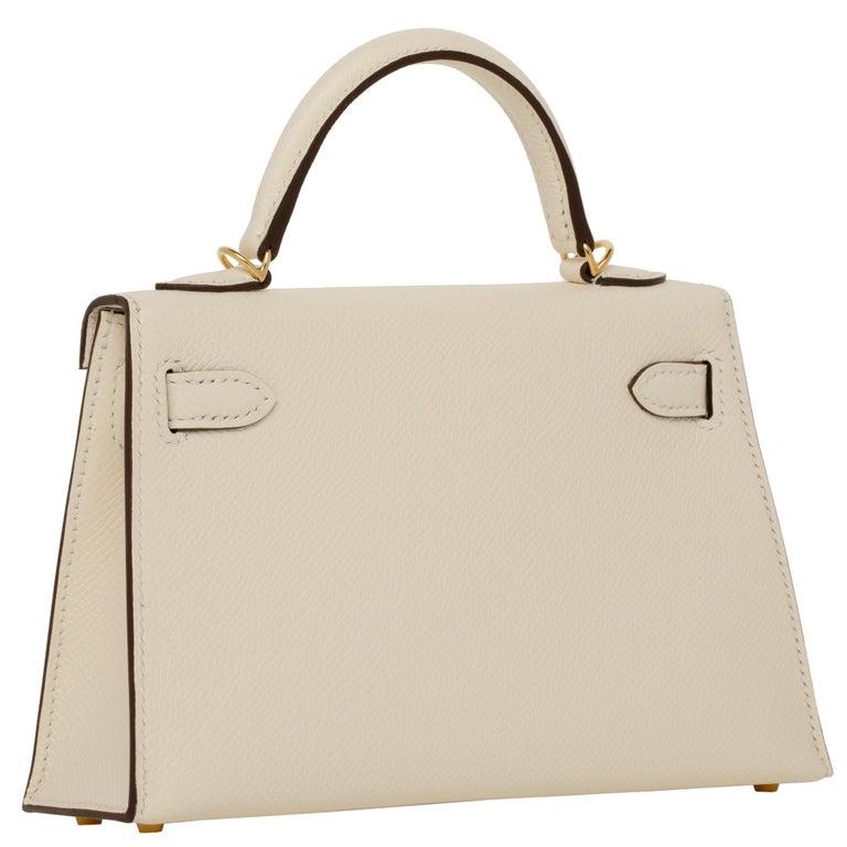 Hermès Mini Kelly II Nata Epsom Leather Gold Hardware For Sale 5