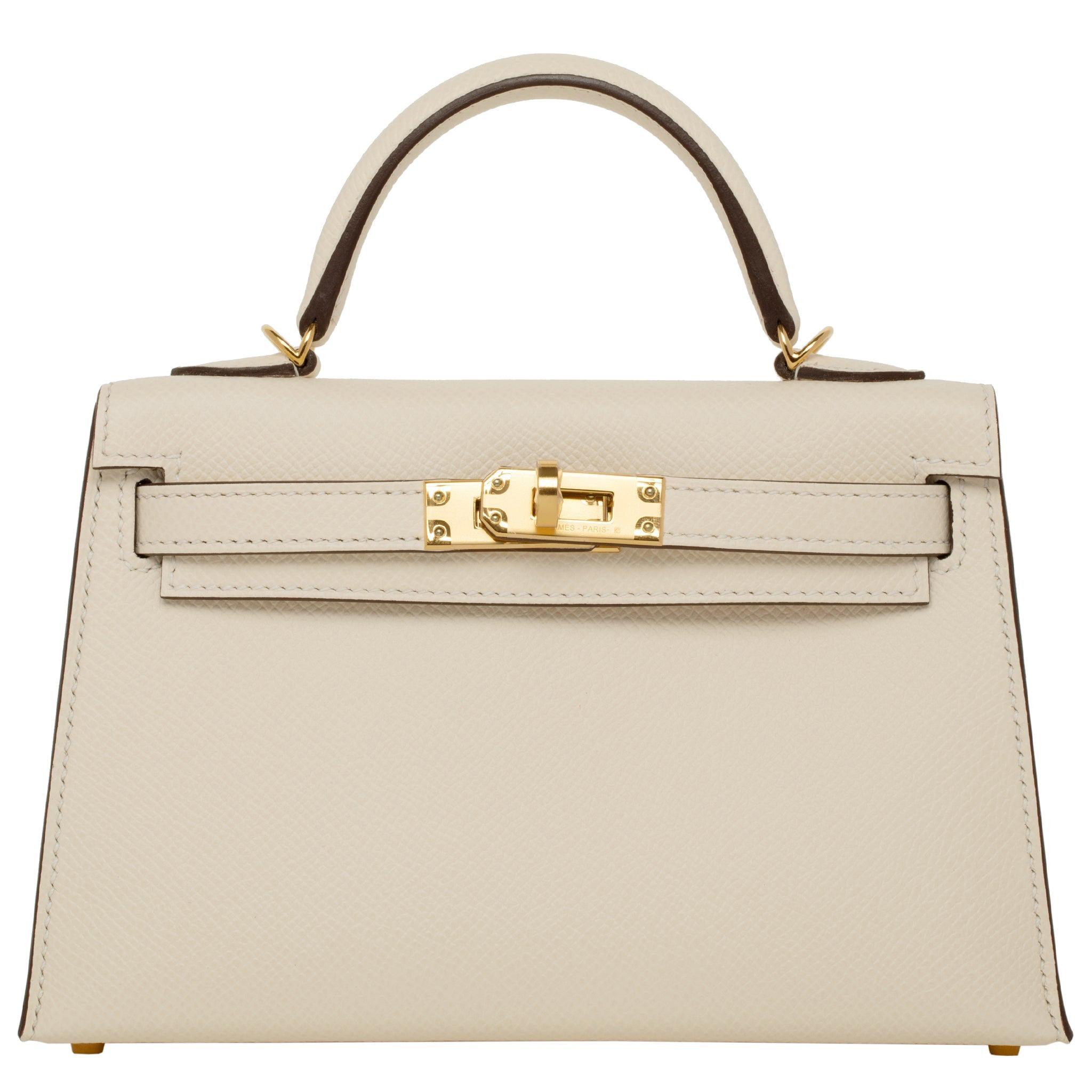 Hermès Mini Kelly II Nata Epsom Leather Gold Hardware