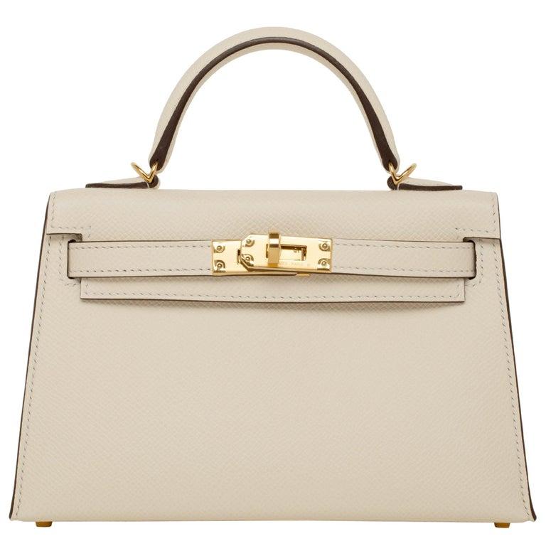 Hermès Mini Kelly II Nata Epsom Leather Gold Hardware For Sale