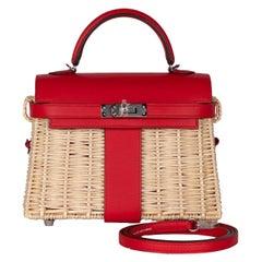 Hermes Mini Picnic Kelly Bag Rouge de Coeur 20cm