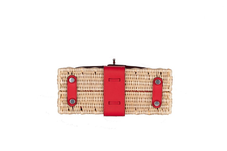 Hermes Mini Picnic Kelly Bag Rouge de Coeur 20cm In New Condition For Sale In Delray Beach, FL