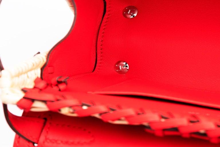 Hermes Mini Picnic Kelly Bag Rouge de Coeur 20cm For Sale 2