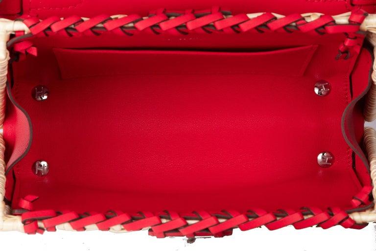 Hermes Mini Picnic Kelly Bag Rouge de Coeur 20cm For Sale 3